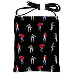 Hotline Bling Black Background Shoulder Sling Bags by Samandel