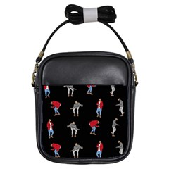 Hotline Bling Black Background Girls Sling Bags