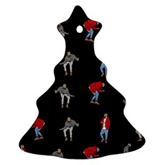 Hotline Bling Black Background Christmas Tree Ornament (two Sides)