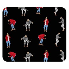 Hotline Bling Black Background Double Sided Flano Blanket (small)