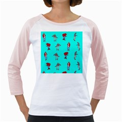 Hotline Bling Blue Background Girly Raglans