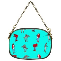 Hotline Bling Blue Background Chain Purses (one Side)