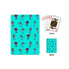 Hotline Bling Blue Background Playing Cards (mini)