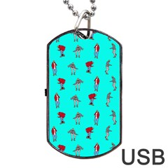 Hotline Bling Blue Background Dog Tag Usb Flash (one Side) by Samandel
