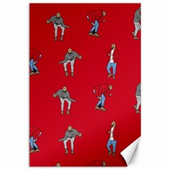 Hotline Bling Red Background Canvas 12  X 18
