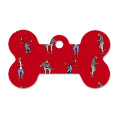 Hotline Bling Red Background Dog Tag Bone (two Sides)