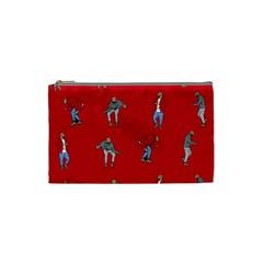 Hotline Bling Red Background Cosmetic Bag (small)