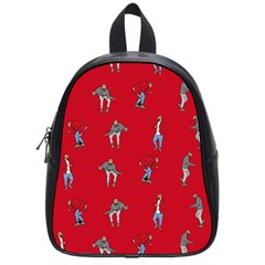 Hotline Bling Red Background School Bag (small)