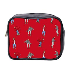 Hotline Bling Red Background Mini Toiletries Bag 2 Side