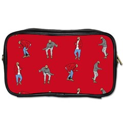Hotline Bling Red Background Toiletries Bags 2 Side by Samandel