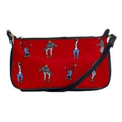 Hotline Bling Red Background Shoulder Clutch Bags