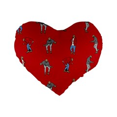 Hotline Bling Red Background Standard 16  Premium Heart Shape Cushions