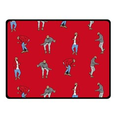 Hotline Bling Red Background Double Sided Fleece Blanket (small)  by Samandel