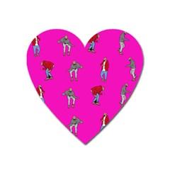 Hotline Bling Pink Background Heart Magnet