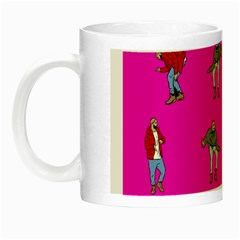 Hotline Bling Pink Background Night Luminous Mugs