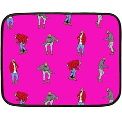 Hotline Bling Pink Background Double Sided Fleece Blanket (mini)
