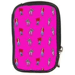 Hotline Bling Pink Background Compact Camera Cases