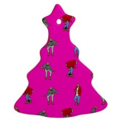 Hotline Bling Pink Background Christmas Tree Ornament (two Sides)