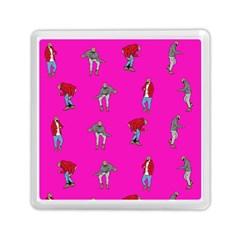Hotline Bling Pink Background Memory Card Reader (square)