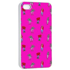 Hotline Bling Pink Background Apple Iphone 4/4s Seamless Case (white) by Samandel