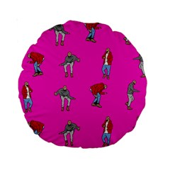Hotline Bling Pink Background Standard 15  Premium Round Cushions