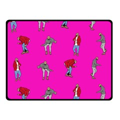 Hotline Bling Pink Background Double Sided Fleece Blanket (small)  by Samandel