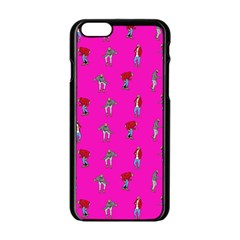 Hotline Bling Pink Background Apple Iphone 6/6s Black Enamel Case