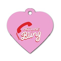 Hotline Bling Dog Tag Heart (two Sides)