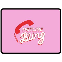 Hotline Bling Double Sided Fleece Blanket (large)