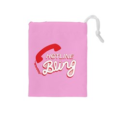 Hotline Bling Drawstring Pouches (medium)
