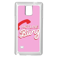 Hotline Bling Samsung Galaxy Note 4 Case (white) by Samandel