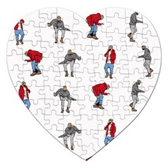 Hotline Bling White Background Jigsaw Puzzle (heart)
