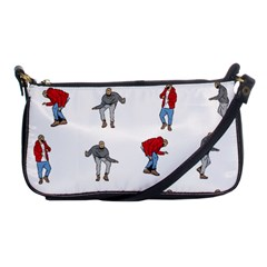 Hotline Bling White Background Shoulder Clutch Bags