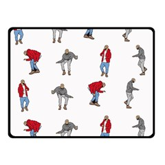 Hotline Bling White Background Double Sided Fleece Blanket (small)  by Samandel
