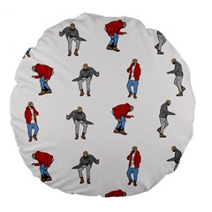 Hotline Bling White Background Large 18  Premium Flano Round Cushions by Samandel