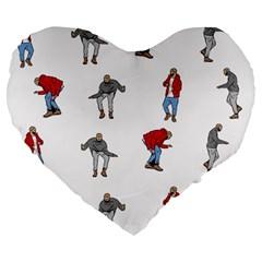 Hotline Bling White Background Large 19  Premium Flano Heart Shape Cushions