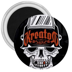 Kreator Thrash Metal Heavy Hard Rock Skull Skulls 3  Magnets
