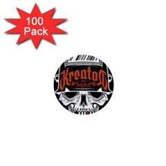 Kreator Thrash Metal Heavy Hard Rock Skull Skulls 1  Mini Buttons (100 Pack)