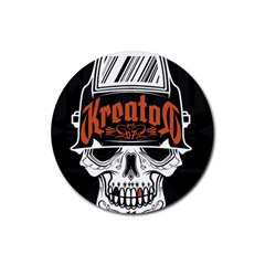 Kreator Thrash Metal Heavy Hard Rock Skull Skulls Rubber Coaster (round)  by Samandel