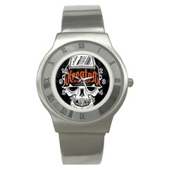Kreator Thrash Metal Heavy Hard Rock Skull Skulls Stainless Steel Watch