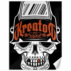 Kreator Thrash Metal Heavy Hard Rock Skull Skulls Canvas 18  X 24   by Samandel