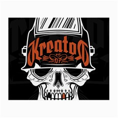 Kreator Thrash Metal Heavy Hard Rock Skull Skulls Small Glasses Cloth (2 Side) by Samandel