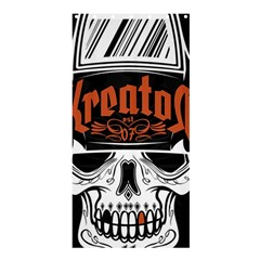 Kreator Thrash Metal Heavy Hard Rock Skull Skulls Shower Curtain 36  X 72  (stall)  by Samandel