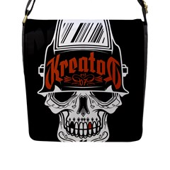 Kreator Thrash Metal Heavy Hard Rock Skull Skulls Flap Messenger Bag (l)