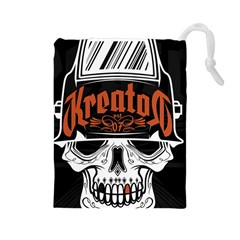 Kreator Thrash Metal Heavy Hard Rock Skull Skulls Drawstring Pouches (large)