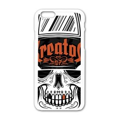 Kreator Thrash Metal Heavy Hard Rock Skull Skulls Apple Iphone 6/6s White Enamel Case