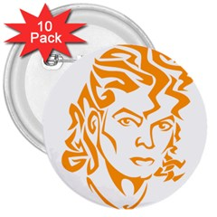 The King Of Pop 3  Buttons (10 Pack)