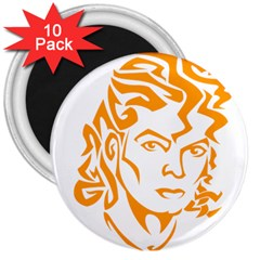The King Of Pop 3  Magnets (10 Pack)