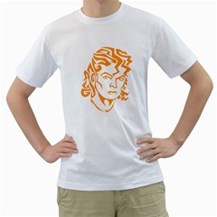 The King Of Pop Men s T Shirt (white) (two Sided)