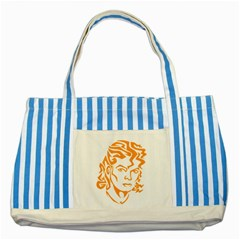 The King Of Pop Striped Blue Tote Bag